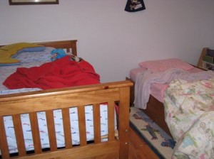 Sloan and Tia's lovely trundle bed