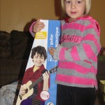 Tia with her coveted purple guitar