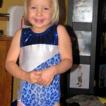 Tia&#039;s new, real gymnastics leotard.