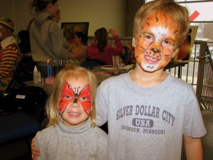 The face painting was nothing short of a work of art.