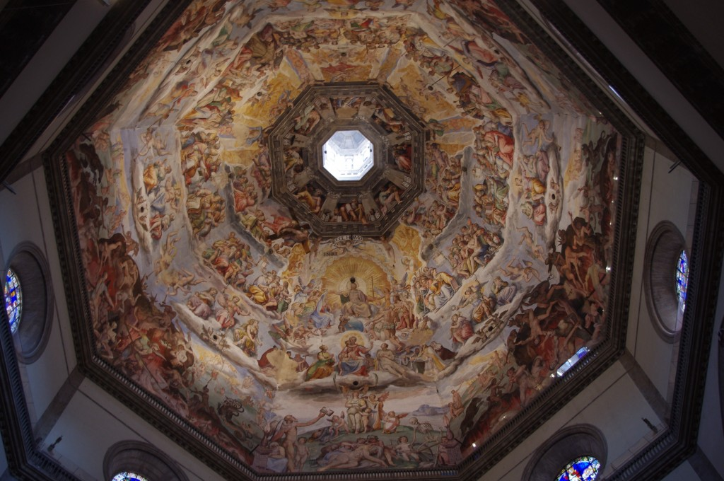 The painting inside the Duomo was fascinating.  There was so much thought, depth, spiritualism and talent that went into creating these masterpieces.