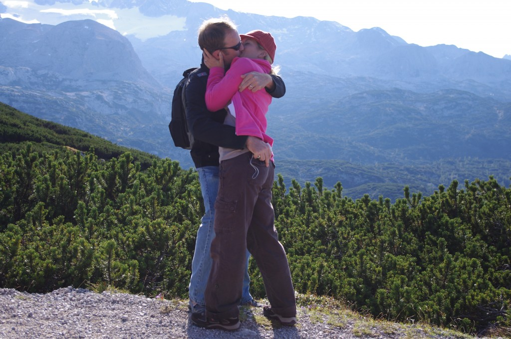 Me, my man and an Austrian mountaintop. Just an awesome moment...