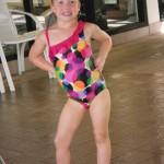 Swimming at the hotel made my little gymnast quite happy. Notice the hip pop...little girls don't need to be taught that.