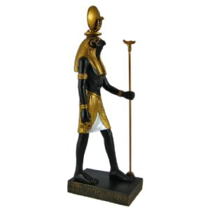 It s Ra  the Egyptian Sun god   Ra Statue