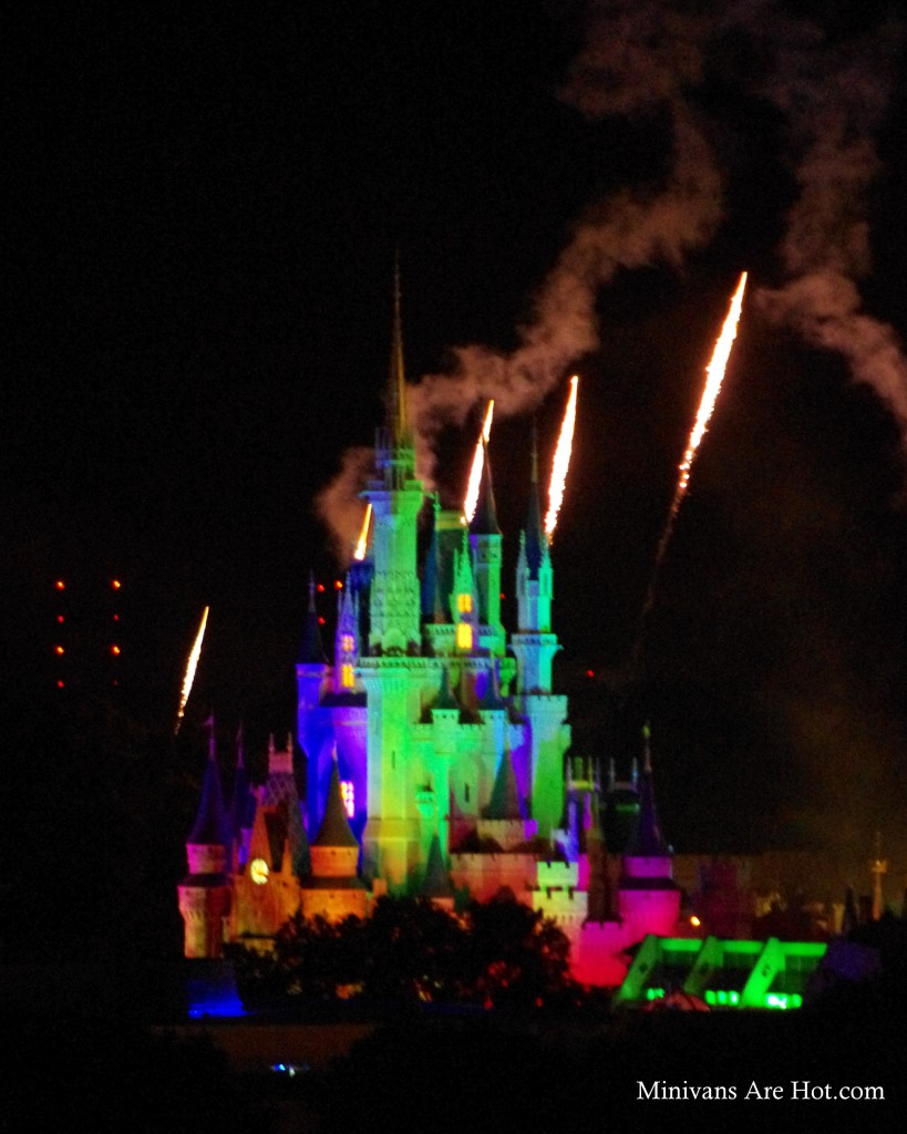 A little Disney Magic fell in my favor when we were assigned a hotel room with a view of the castle. We sat on our balcony at night and enjoyed the fireworks without the crowds.