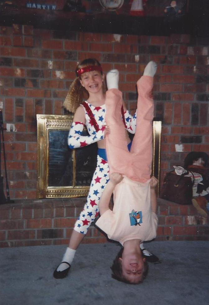 I blame this photo on a number of things: My parents, Jazz Dance and the '80's.