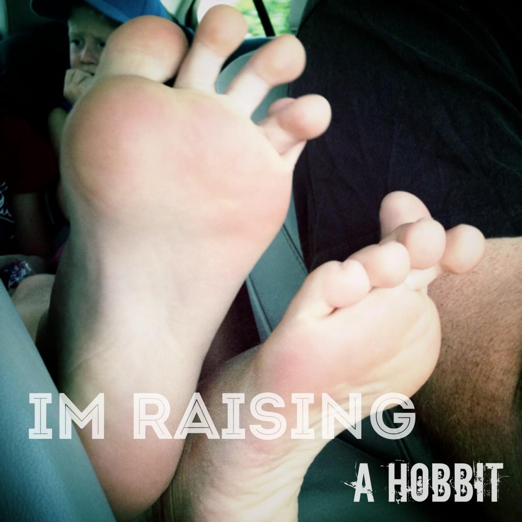 He has ten year old Hobbit Feet now...