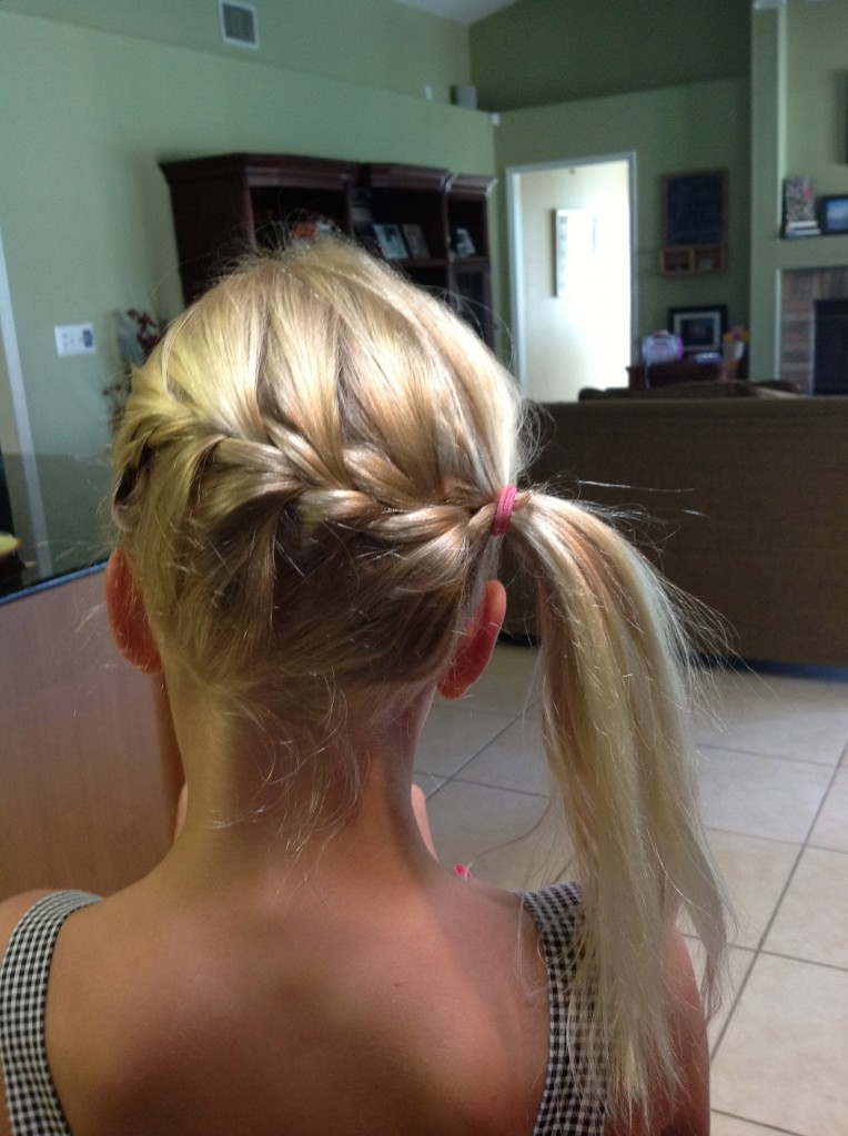 Little girl hair = fun