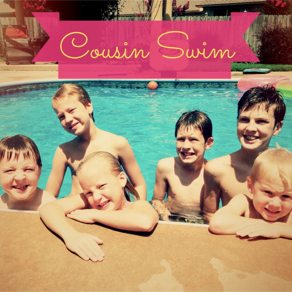 Swim time with cousins