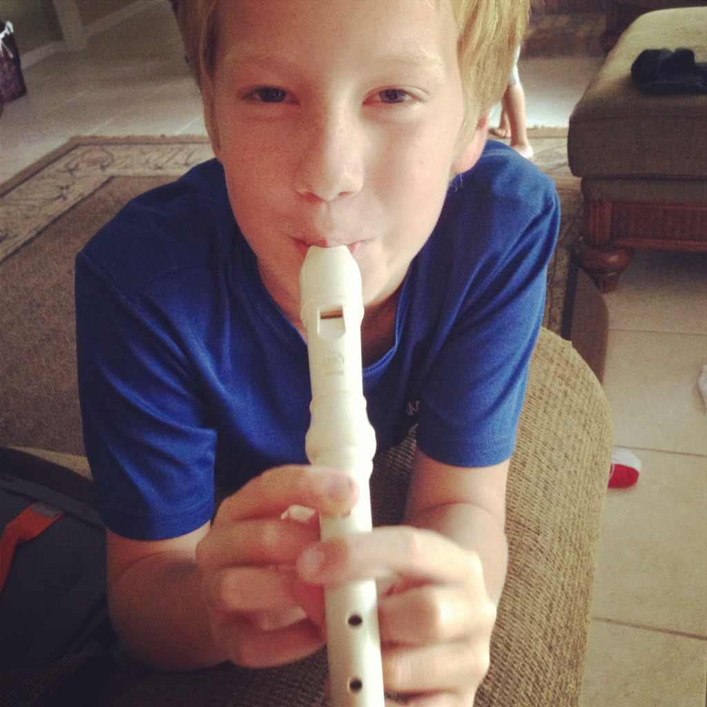 Fourth Grade. The year they learn the recorder. Friends, there isn't enough coffee or alcohol in the world to numb to get parents through this momentous event...