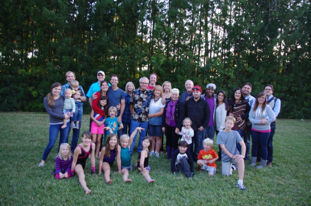The whole crew. 31 family members, plus 5 of our dear friends from St. Louis who recently moved to Boca Raton. How can I not be thankful for this?!